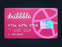 Dribbble credit card