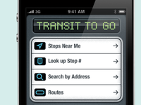 Transit To Go Interface