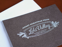 Stamp on Embossed Cardstock Christmas Card