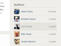 Author List Widget