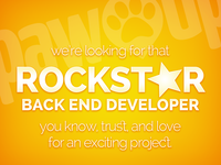 PawUp: Hiring Back End Developer