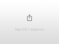 New iOS 7 share icon