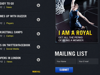 Royals Basketball Website