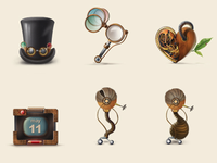 Free Steampunk Icons
