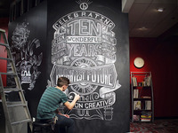 Chalk Wall Time Lapse