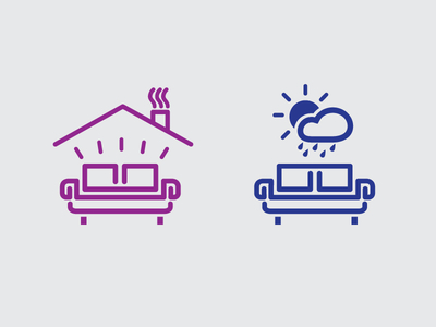 Indoor Outdoor Furniture Icons