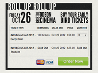 #WebDevConf 2012 Site Design - Tickets