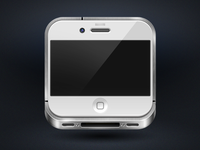 White iPhone4 icon