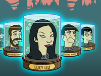 Futurama Jar Heads