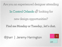 Seeking Experienced Designers