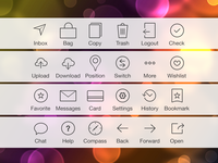 Exploring some iOS 7 tab bar icons