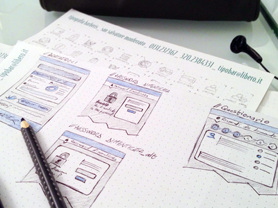 MoneyFarm wireframes and icons