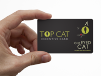 One Eyed Cat – Top Cat Card