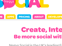 Negys Social - Website Homepage