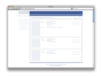 Facebook 2006 Wireframe