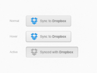 Dropbox sync button - PSD freebie