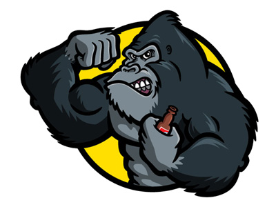 Gorilla Face Cartoon Bodybuilder Gorilla Cartoon
