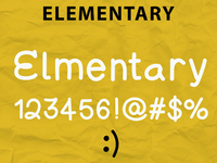 Elementary Typeface (created on ipad)
