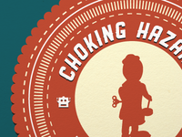 Choking Hazard Museum of Toys closeup