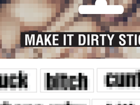 make things dirty stickers