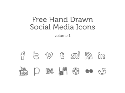 Hand-drawn-social-media-icons