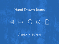 Hand Drawn Icons Sneak Preview