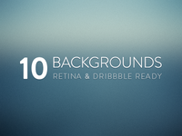 10 Free Blurred Backgrounds: Retina & Dribbble Ready