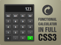 Functional CSS3 Calculator