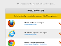 Invalid Browser