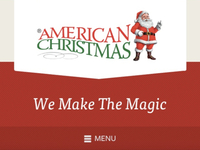 American Christmas Website Header