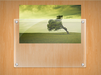 Glass Frame With Image