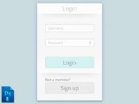 Login Window revisited (psd freebie)