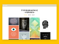 Typographic Verses website - live!