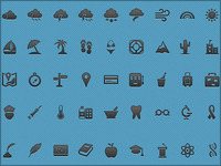 Carbon black icons