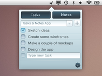 Tasks & Notes Menubar App