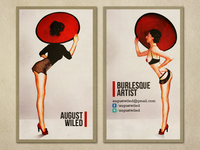 August Wiled, Burlesque Artist: Business Cards