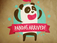 Pandas arrived!