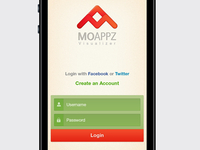 MoAppz Login Screen