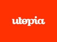 Utopia branding agency logo design