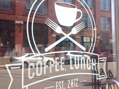 Coffee Lunch Logo on Door