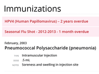 Health Care Immunization