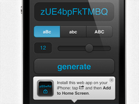 Mobile HTML5 Utility - Random Password Generator