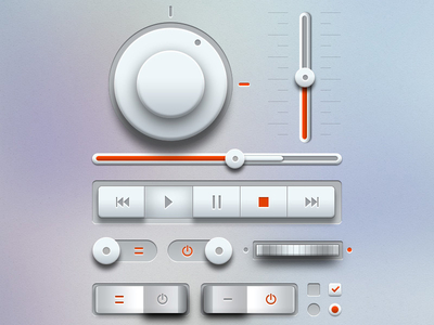Download Light Music UI Kit PSD