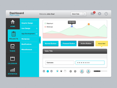 Dashboard UI Elements