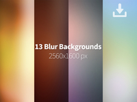 13 Blurred Backgrounds Freebie