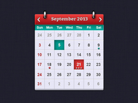 iOS Calendar UI Elements