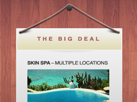 The Big Deal - Free Elegant Coupon Window (PSD)