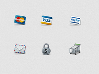 Elegant Business And E-Commerce Icon Set