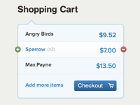 Shopping Cart - Forms UI