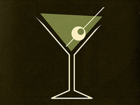 Martini Icon for a Restaurant